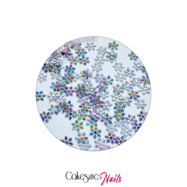 Glitter.Cakey - Multi Color Snowflakes Sequins