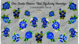 Queen of Decals - One Stroke Blue by Kristy Homolya