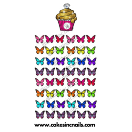 CakesInc.Nails - Small Summer Butterflies 'NAIL DECALS'