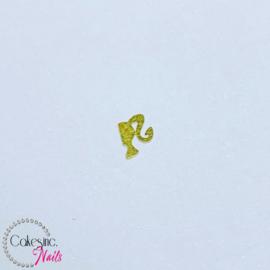 Glitter.Cakey - Mini Gold Sliced Barbie Head Charm