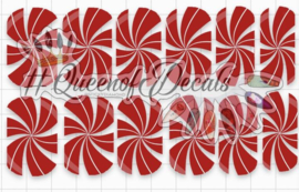 Queen of Decals - Negative Space Red Candy Swirls (The Ultimate)