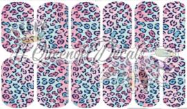 Queen of Decals - Baby Blue & Pink Leopard Print 'NEW RELEASE'