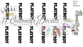 Queen of Decals - Play Bunny Font