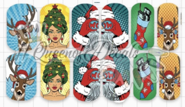 Queen of Decals - Christmas Pop Art