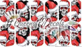 Queen of Decals -  Santa Skull