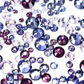 Bluestreak Crystals - Lavender Mix (Preciosa)