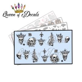 Queen of Decals - Crowned Skulls 'NEW RELEASE'