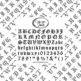 CakesInc.Nails - Metallic Old English (Mix & Match) 'NAIL DECALS'