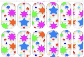 Queen of Decals -  Negative Space Bright Stars 'NEW RELEASE'