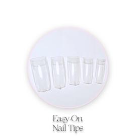 CakesInc.Nails - Easy On 500 🌸 'CLEAR' Nail Tips