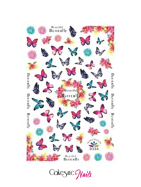 Glitter.Cakey - Butterfly 'STICKER SHEET R334'