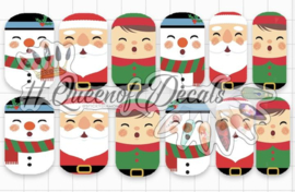 Queen of Decals - Cartoon Christmas Cuties (The Ultimate)