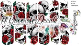 Queen of Decals - Skulls Skulls Skulls &  Roses