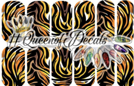 Queen of Decals - Fierce Tiger
