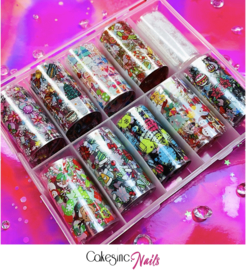 CakesInc.Nails - Transfer Foil Set #004 'Christmas Inspired' Negative Space