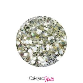 Glitter.Cakey - Silver Cone 'METALLIC DOTS'