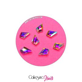 Crystal.Cakey - Kite (4x6mm) 'Aurora Borealis'