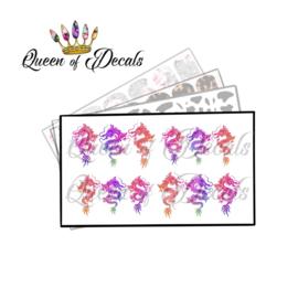 Queen of Decals - Ombré Dragons 'NEW RELEASE'
