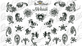 Queen of Decals - Mehndi
