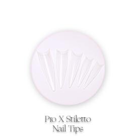 CakesInc.Nails - Pro X  Stiletto 500 💖 'CLEAR' Nail Tips