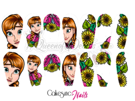 Queen of Decals - Anna & Sunflowers 'STICKY DIAMOND COLLAB' (The Ultimate)