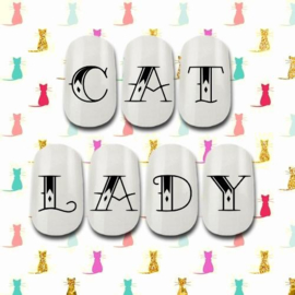 Cakey.Decals - Cat Lady Words