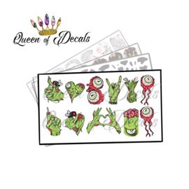 Queen of Decals - Zombie Limbs 'NEW RELEASE'