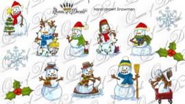 Queen of Decals -  Hand Drawn Snowman
