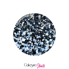 Glitter.Cakey - Silver 'METALLIC DOTS'