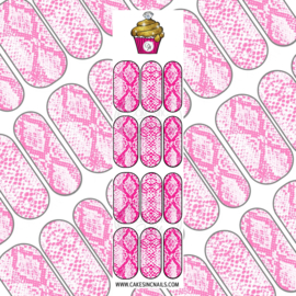 CakesInc.Nails - Hot Pink Snake Skin 'NAIL DECALS