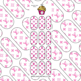 CakesInc.Nails - Pink V L 'NAIL DECALS'