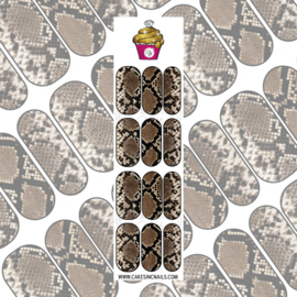 CakesInc.Nails - Amaretto Brown Snake Skin 'NAIL DECALS'