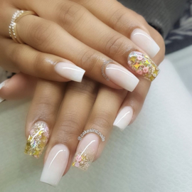 Glitter Blendz - Gold Four Point Stars