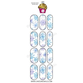 CakesInc.Nails - Negative Space Snowflakes 'NAIL DECALS'