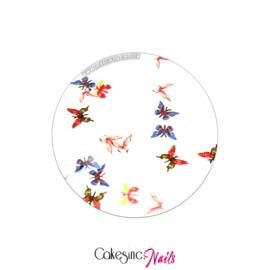 Glitter.Cakey - Deep Orange & Blue Butterflies 'THE SLICES'
