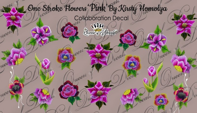 Queen of Decals - One Stroke Pink by Kristy Homolya (full cover)