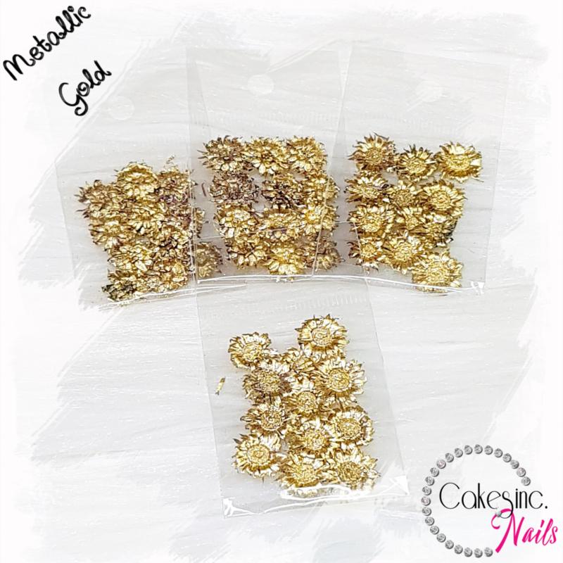 Mini Sunflowers - Gold - Metallic Color