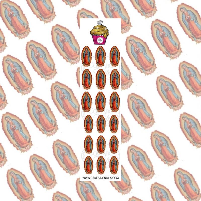 CakesInc.Nails - Virgen de Guadalupe 'NAIL DECALS'