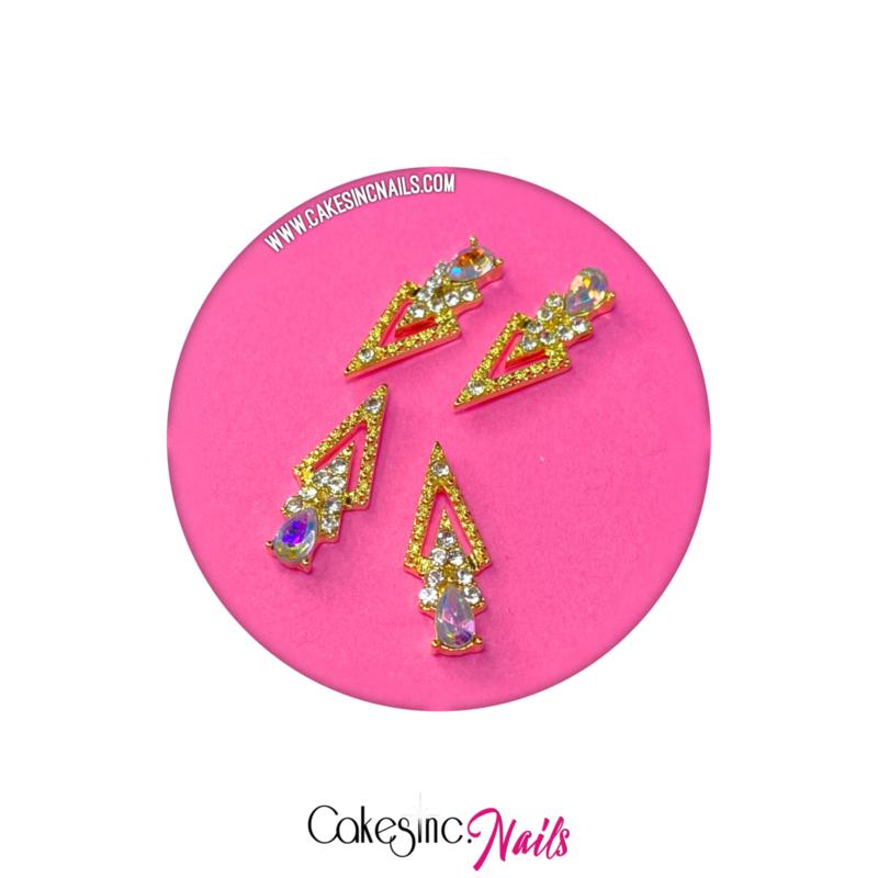Cakey.Charms - Gold Luxury Triangle 🧸 'Aurora Borealis'