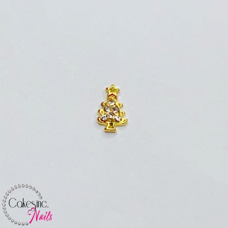 Glitter.Cakey - Gold Crystals X-MAS Tree Charm