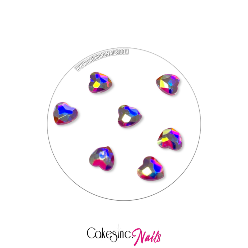 Crystal.Cakey - Heart (7mm) 'Aurora Borealis'