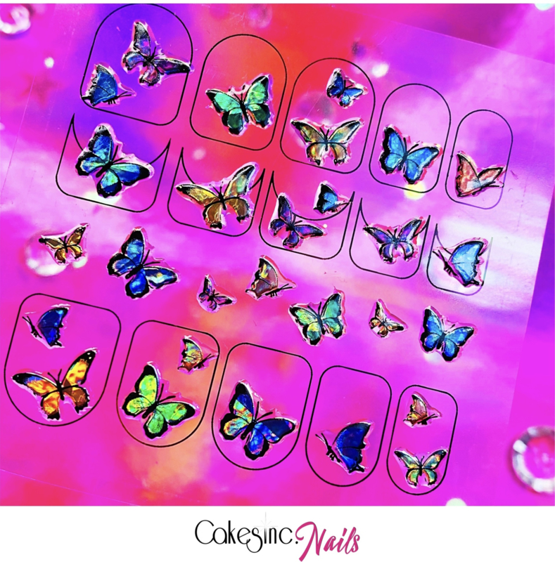Glitter.Cakey - Holo Spring Butterflies 'Sticker Sheet'