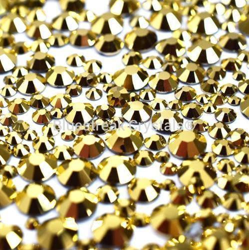 Bluestreak Crystals - Aurum Mix (Preciosa)
