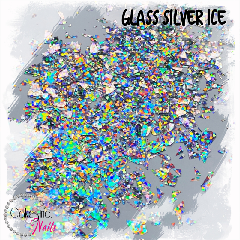Glitter.Cakey - Glass Silver Ice