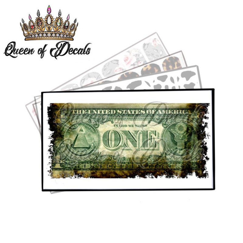Queen of Decals - Burnt One Dolla (BACK) 'NEW RELEASE'