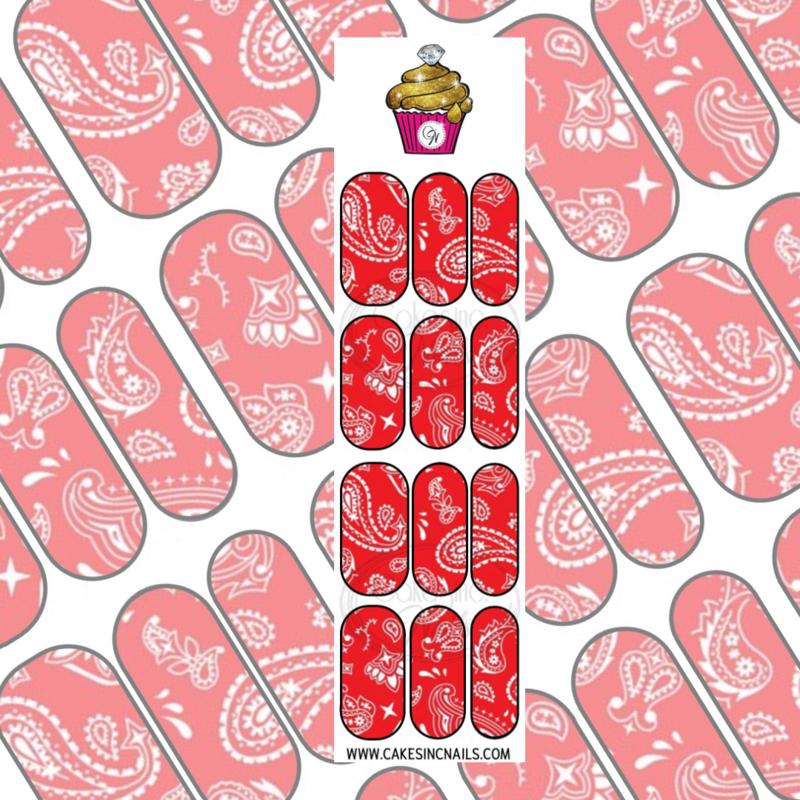 CakesInc.Nails - Red Bandana 'NAIL DECALS'