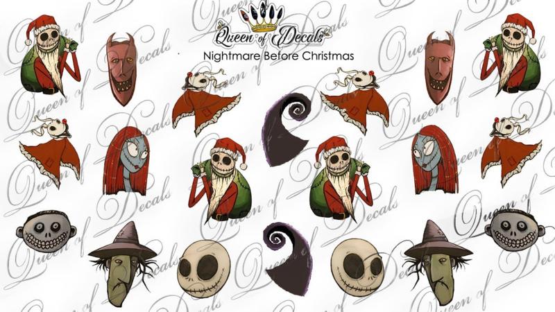 Queen of Decals - Nightmare Before Christmas