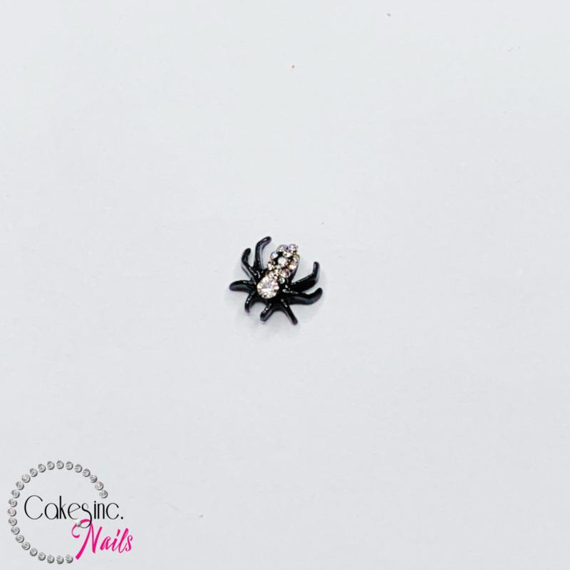Glitter.Cakey - Black Crystals Spider Charm 'HALLOWEEN'