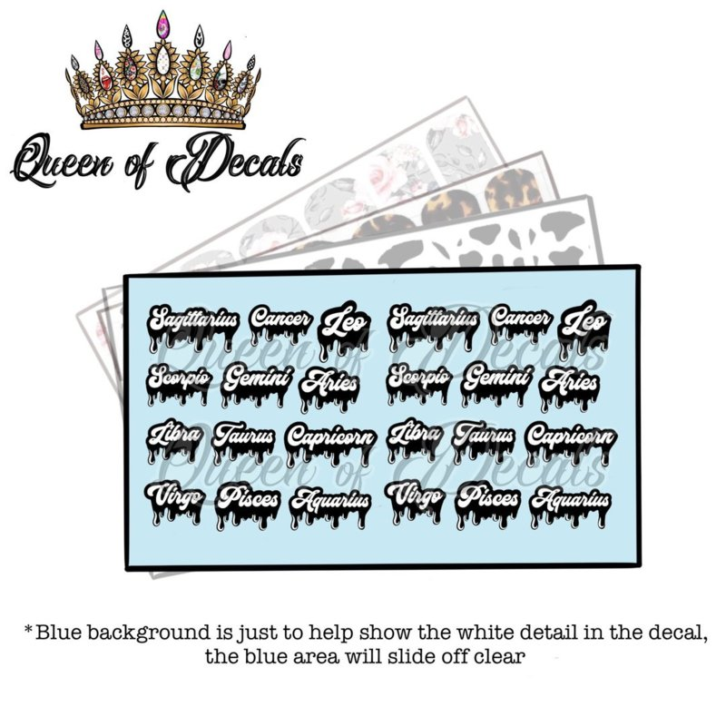 Queen of Decals - Star Sign Graffiti' NEW RELEASE'