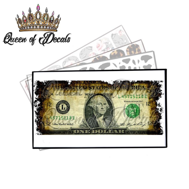 Queen of Decals - Burnt One Dolla (FRONT) 'NEW RELEASE'